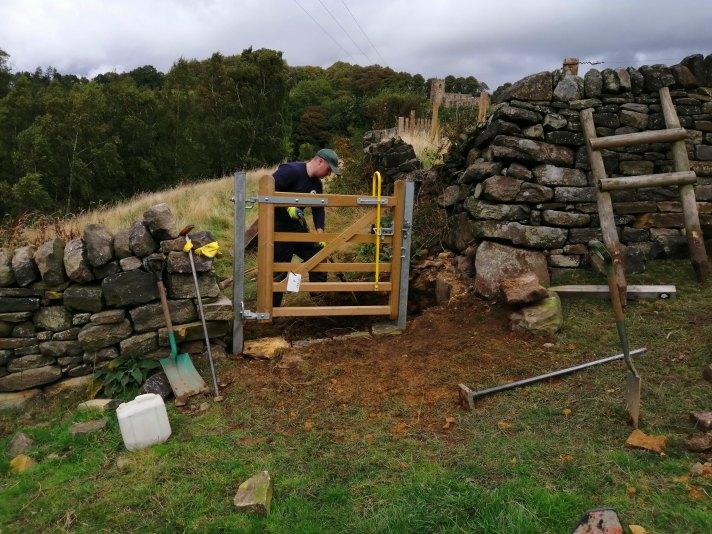 Installing a gate